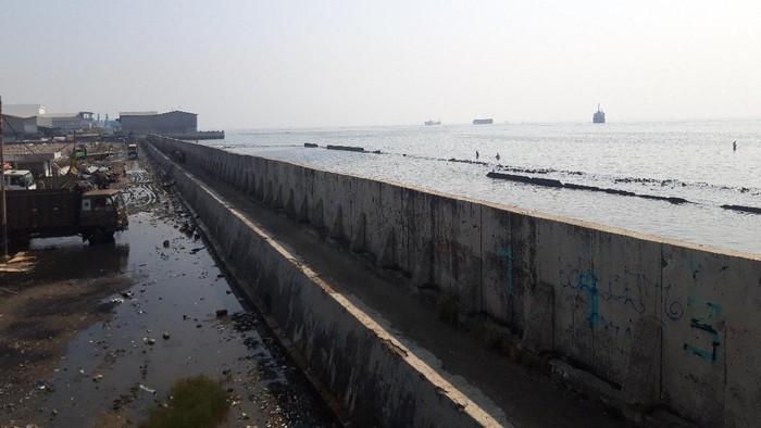 Tanggul NCICD Muara Baru (Foto: Rakha/detikcom)