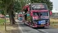 Aksi Sopir Bus Oleng di Kuningan Berujung Tilang!