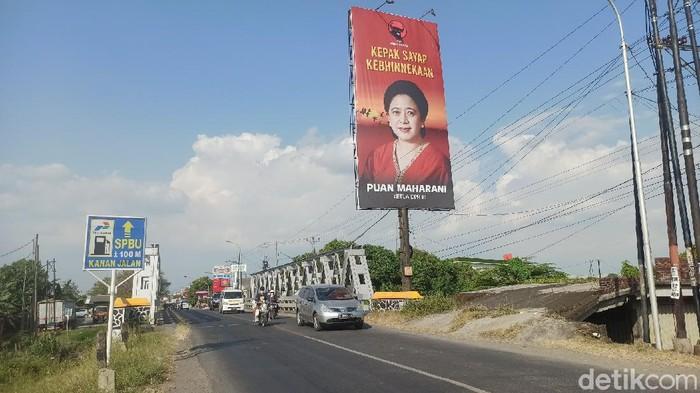 Baliho Puan Maharani juga terpampang di Demak, Jawa Tengah