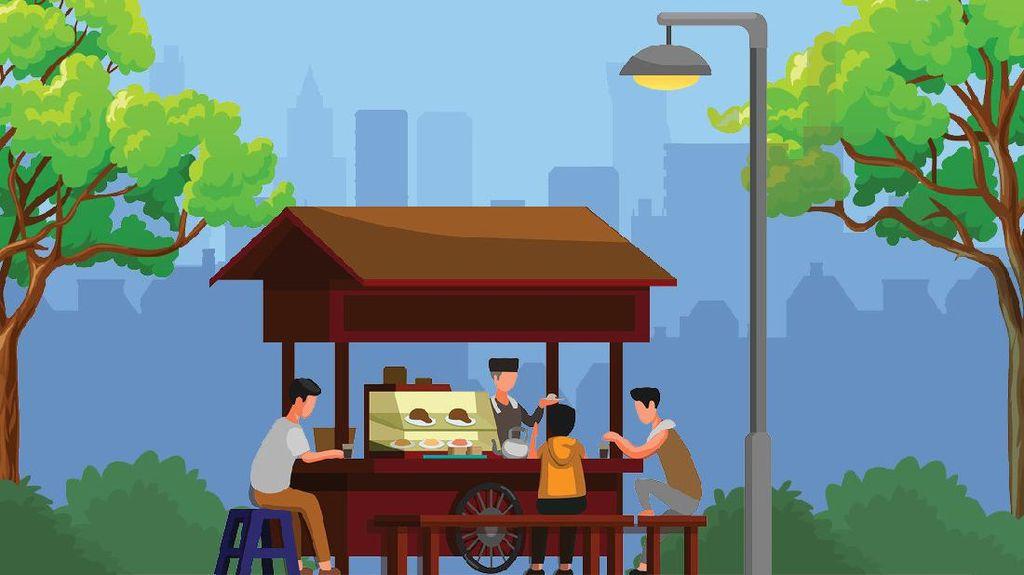 Catat! Ini Prokes yang Wajib Diterapkan Pembeli & Pedagang Kaki Lima