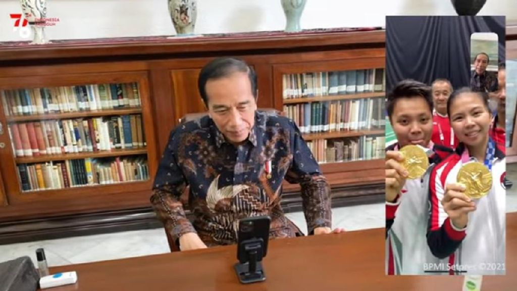 Jokowi Deg-degan Saat Nonton Greysia/Apriyani