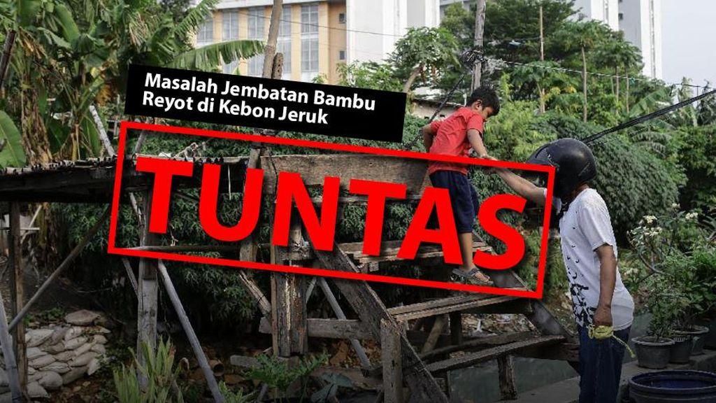 Before-After Jembatan Bambu Reyot di Kebon Jeruk Jadi Beton