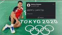 Meme Anthony Ginting Raih Perunggu Olimpiade 2020