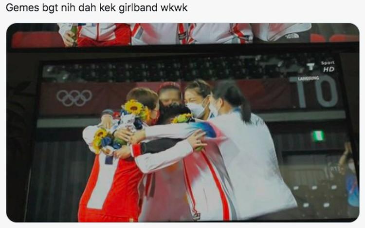Meme Greysia/Apriyana Menang Medali Emas Olimpiade Tokyo 2020