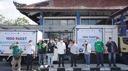 Pelindo III Sumbang 1.000 Paket Sembako buat Sopir Angkot & Ojol