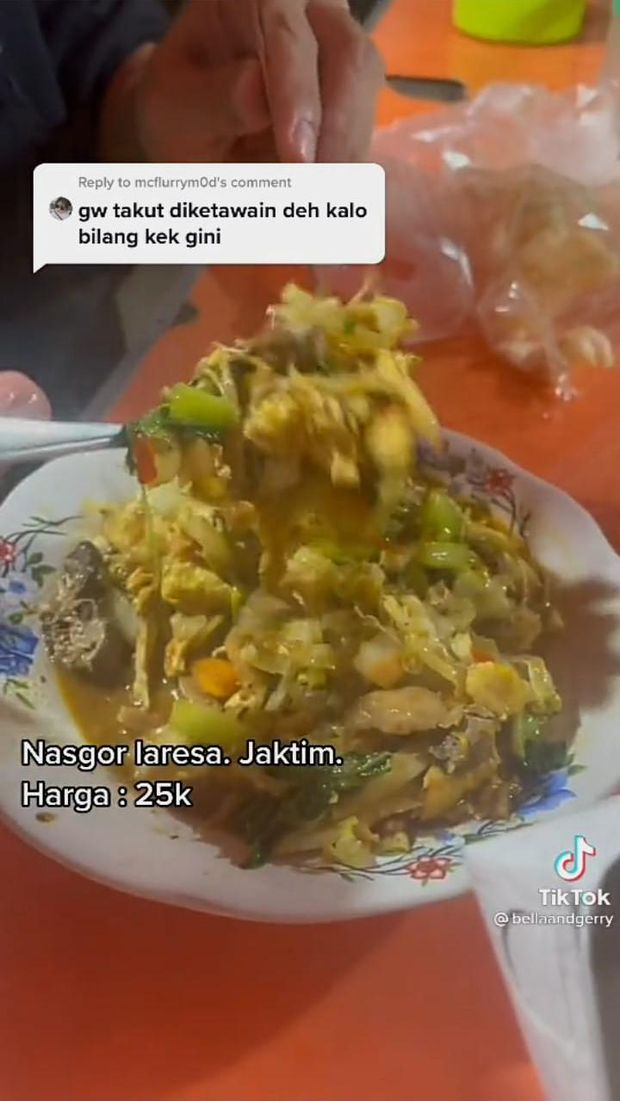 Kocak! Netizen Ini Beli Nasi Goreng Tanpa Nasi dan Mie Ayam Tanpa Mie