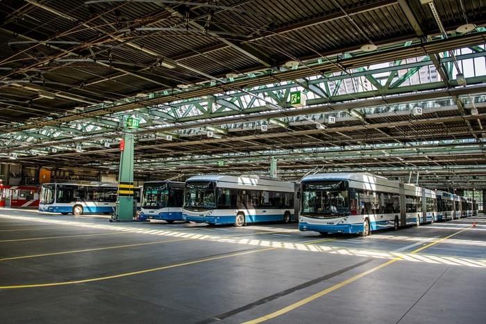 Stasiun bus Zurich Public Transport Authority (VBZ), Zurich, Swiss