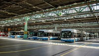 Canggih! Siemens Buat Parkiran Bus yang Bisa Isi Daya 45 Bus Listrik