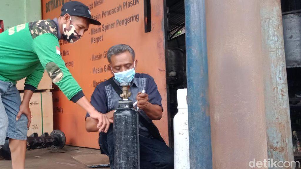 Bengkel di Klaten Ini Berbagi Oksigen-Pinjamkan Mobil untuk Ambulans