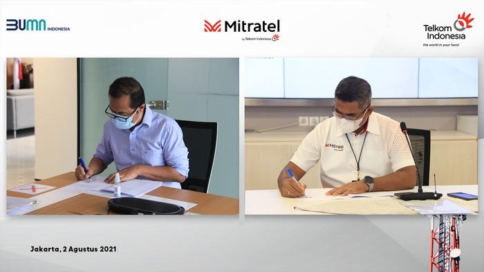 enandatanganan Akta Inbreng & Head of Agreement antara Telkom dengan Mitratel