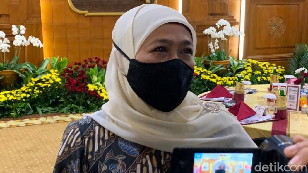 PPKM Level 3-4 Diperpanjang, Khofifah: Alhamdulilah Kasus Melandai