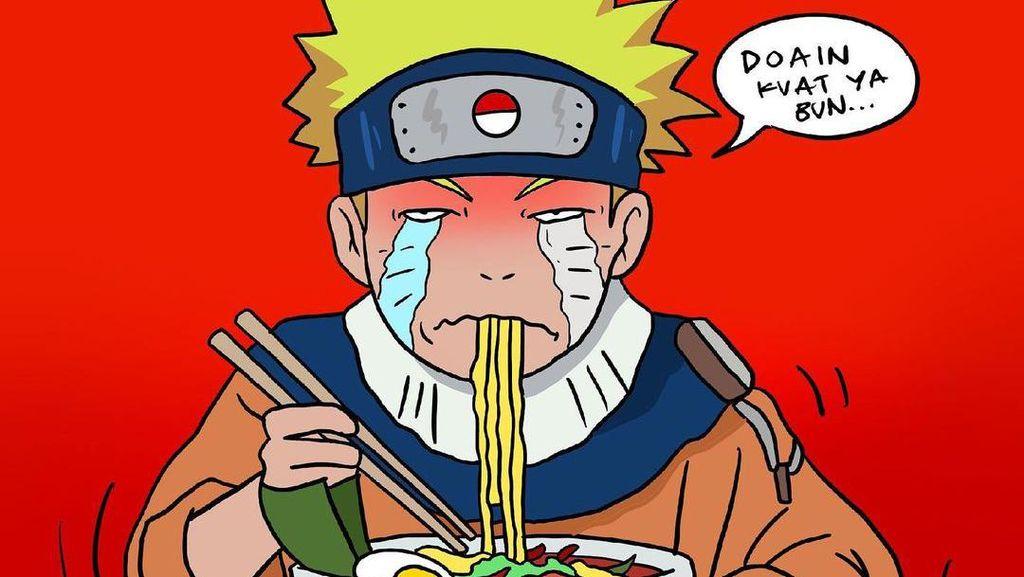 Naruto Aja Nangis Makan Ramen PPKM Level 4