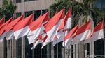 Jelang Hari Kemerdekaan, Ornamen Merah Putih Hiasi Jalan Ibu Kota