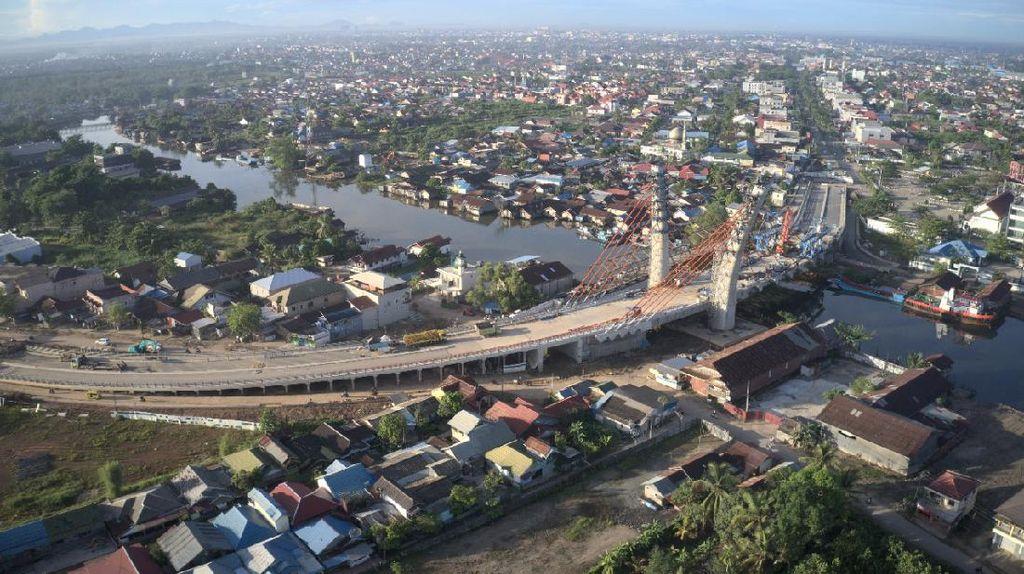 Jadi Ikon Baru Banjarmasin, Proyek Jembatan Sei AlalakCapai 92%