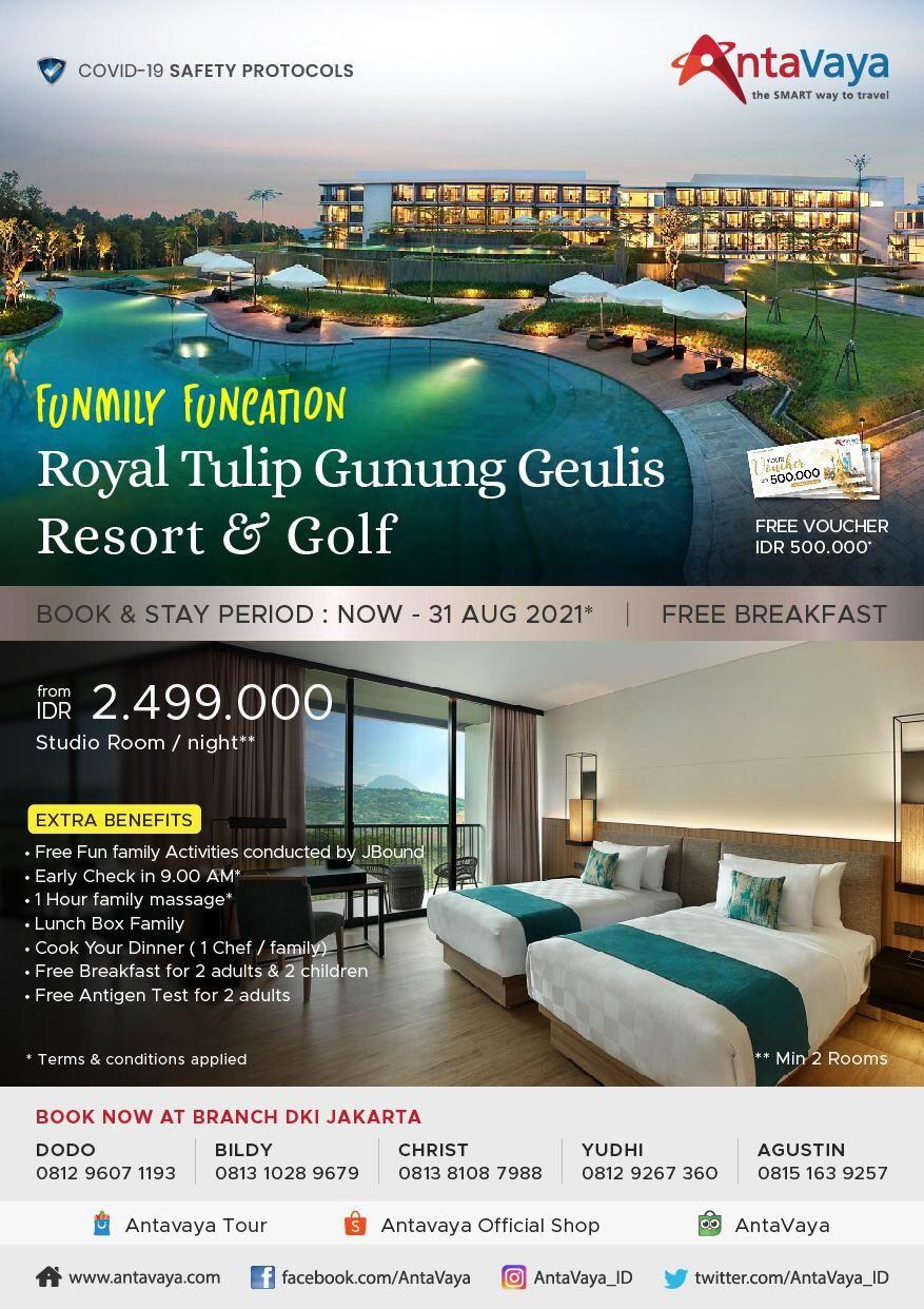 Promo hotel Royal Tulip Gunung Geulis