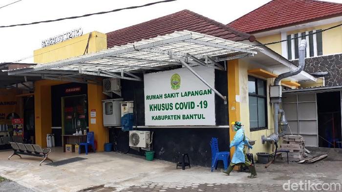 Rumah Sakit Lapangan Khusus COVID-19 (RSLKC) Kabupaten Bantul, Selasa (3/8/2021).