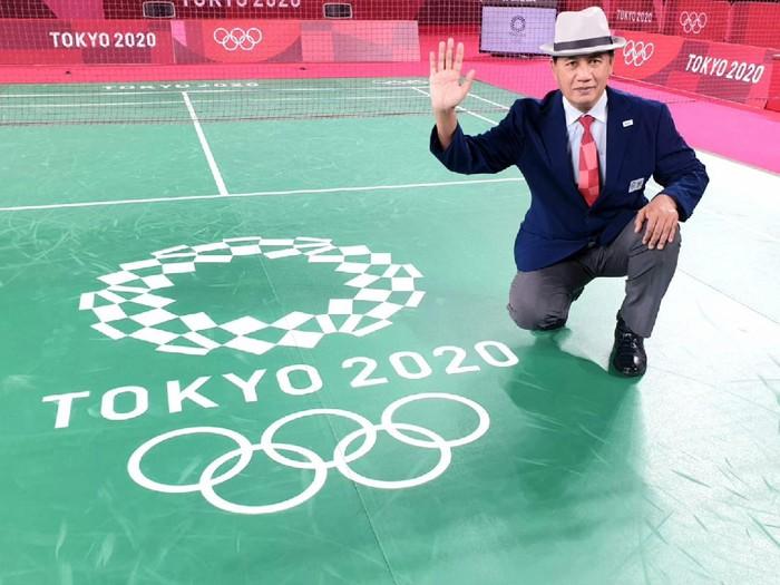 Wahyana, wasit bulutangkis di Olimpiade Tokyo 2020 asal Indonesia.
