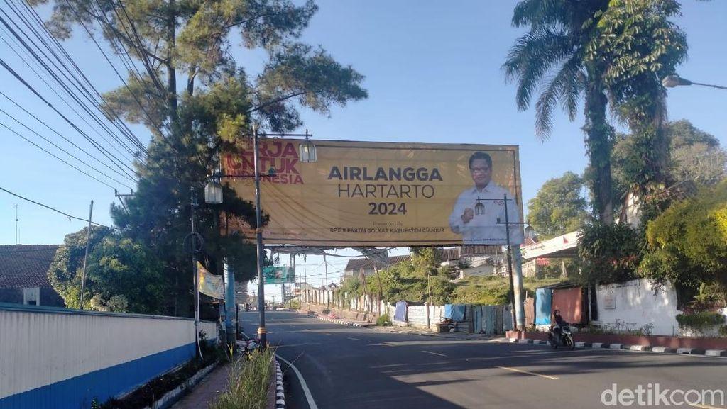 Baliho Airlangga Hartarto 2024 Hiasi Cianjur, Ini Kata Kader Golkar