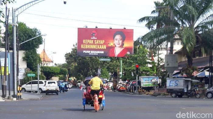 Baliho dan billboard Puan Maharani di Kota Solo, Rabu (4/8/2021).