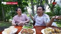 Bikin Laper! Anwar dan Thomas Djorghi Makan Nasi Bakar Tuna Sedap