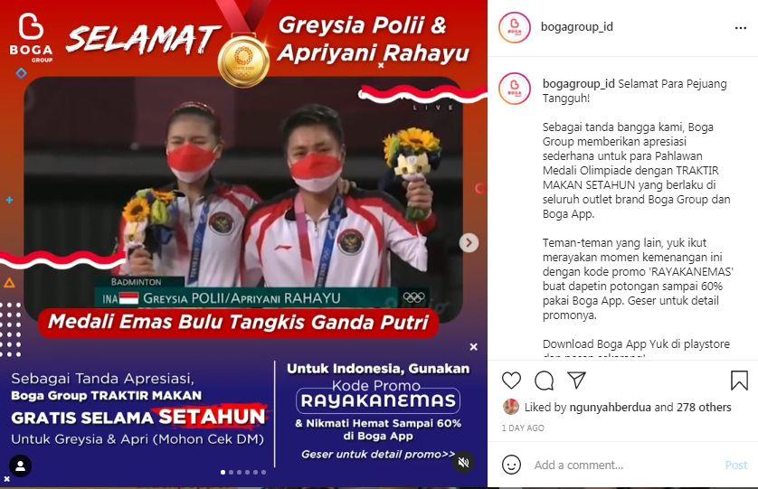 Daftar Hadiah untuk Greysia Polii dan Apriyani Rahayu