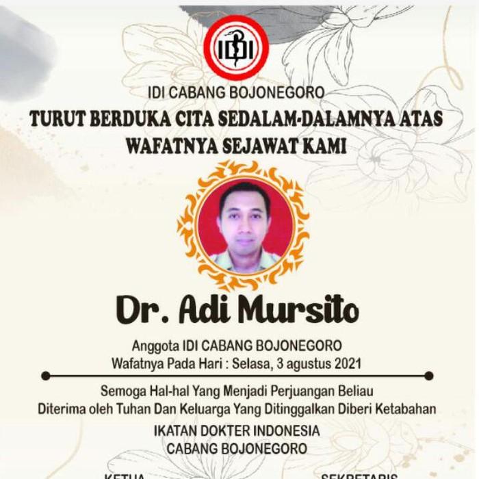 dokter rmeninggal