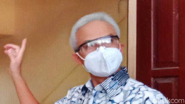Gubernur Jateng Ganjar Pranowo saat kunker di Klaten, Rabu (4/8/2021)