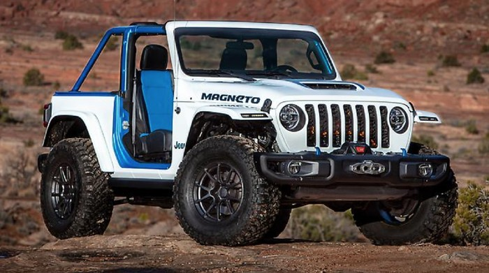 Model konsep mobil listrik Jeep Wrangler Magneto.