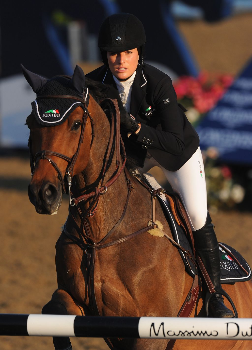 TOKYO, JAPAN - AUGUST 03: Jessica Springsteen of Team United States is seen prior the Jumping Individual Qualifier on day eleven of the Tokyo 2020 Olympic Games at Equestrian Park on August 03, 2021 in Tokyo, Japan. (Photo by Julian Finney/Getty Images)