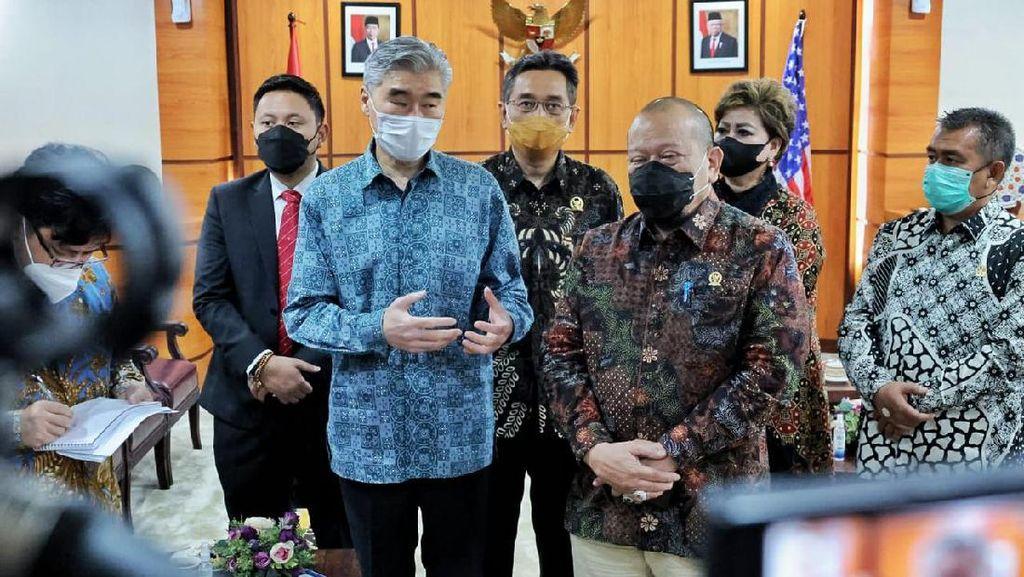 TemuiKetua DPD, Dubes AS Bahas Investasi hingga Kerja Sama Parlemen