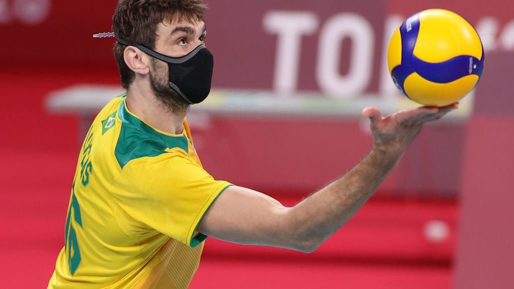 Potret Atlet Voli Brasil yang Tak Copot Masker Saat Berlaga di Olimpiade Tokyo