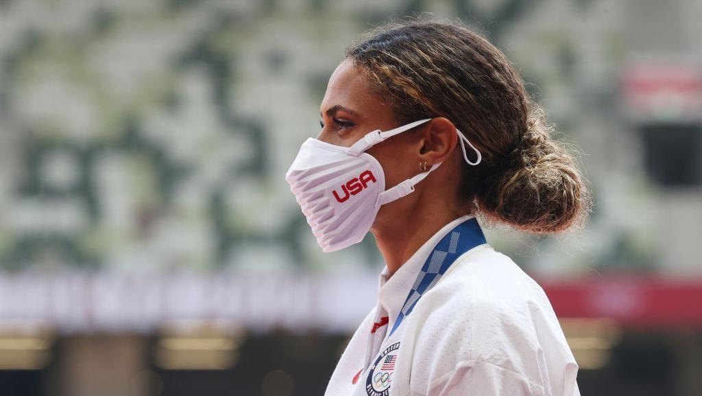 Wujud Masker Atlet AS yang Curi Perhatian di Olimpiade Tokyo 2020