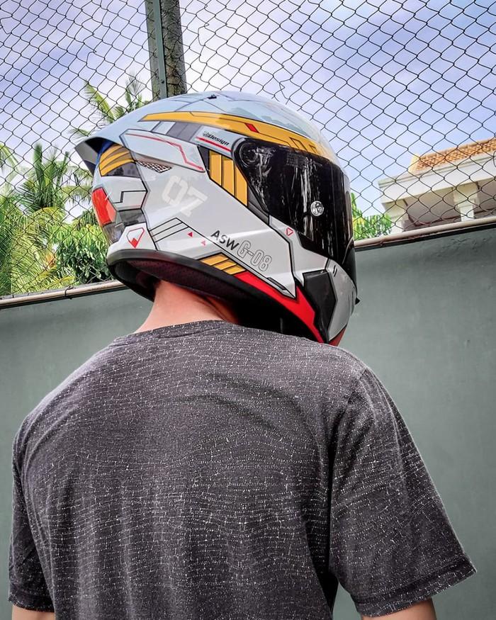 Modifikasi Airbrush helm