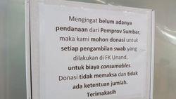Terpaksa Bergantung Donasi Usai Lab PCR Unand Tak Dibantu Provinsi