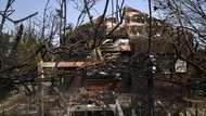 Pemukiman Warga Ludes Terbakar Gegara Kebakaran Hutan Yunani