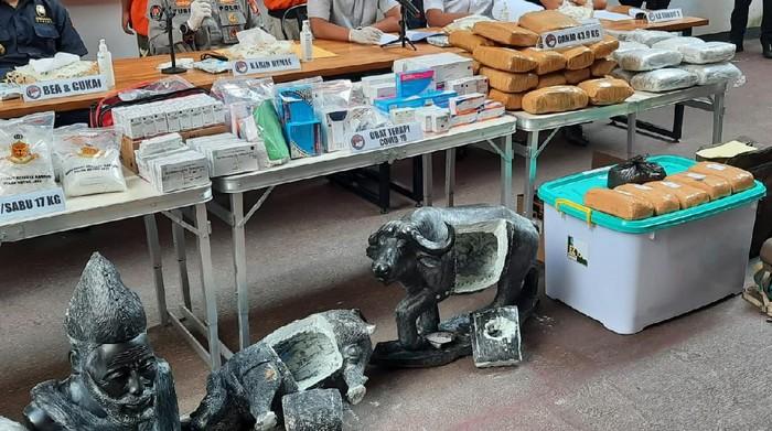 Polda Metro Jaya gagalkan penyelundupan 16 Kg sabu dari Afrika Selatan pakai patung (Yogi/detikcom)