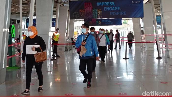 Situasi Stasiun Bogor, Rabu (4/8) pagi