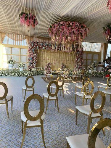 Viral dekorasi pernikahan memakai bunga melati 5 km.