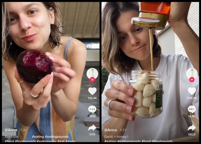 Viral! Seleb TikTok Hobi Makan Bit Mentah hingga Bawang Putih Campur Madu