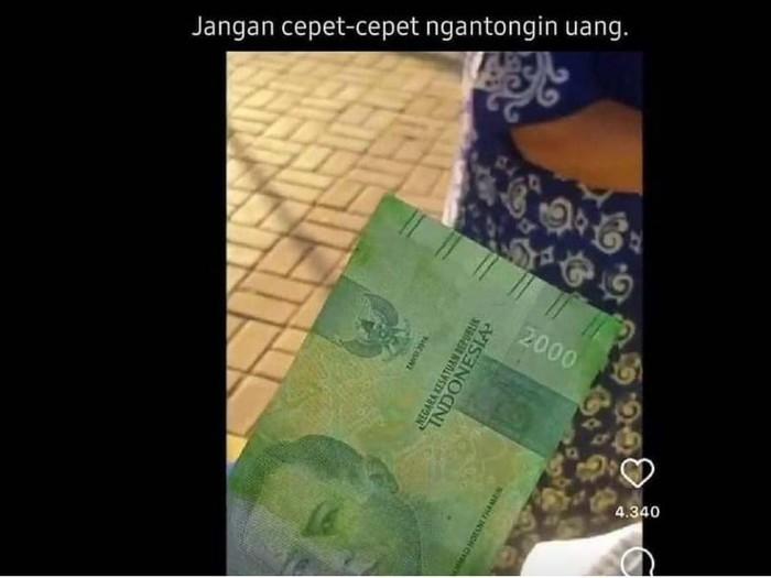 Viral Uang Pecahan Rp 2.000 mirip Rp 20,000/Dramaojol