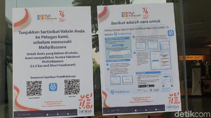 Wajib sertifikat vaksin di Bassura City