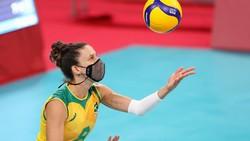 Para Pevoli Ini Tak Copot Masker Saat Tanding di Olimpiade, Nggak Engap?