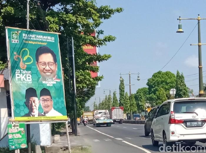 Baliho Cak Imin di Klaten, Kamis (5/8/2021).