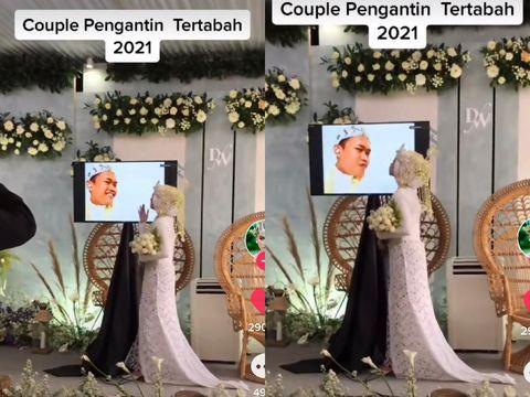 Kisah viral pengantin yang menikah secara virtual.