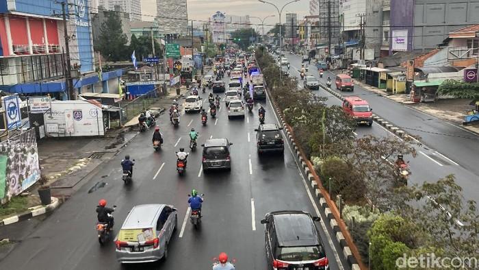 Lalin di Jalan Margonda Raya ramai lancar, Kamis (5/8)