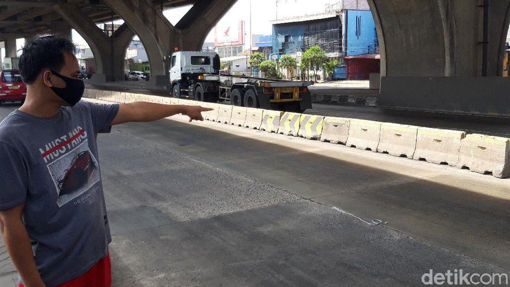 Rambu Pembatas di Cilincing Diganti Beton MCB, Kecelakaan Masih Terjadi