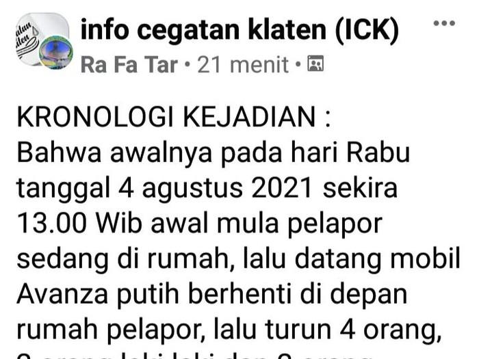 Pencurian modus servis kompor gas bergentayangan di Klaten, Kamis (5/8/2021).