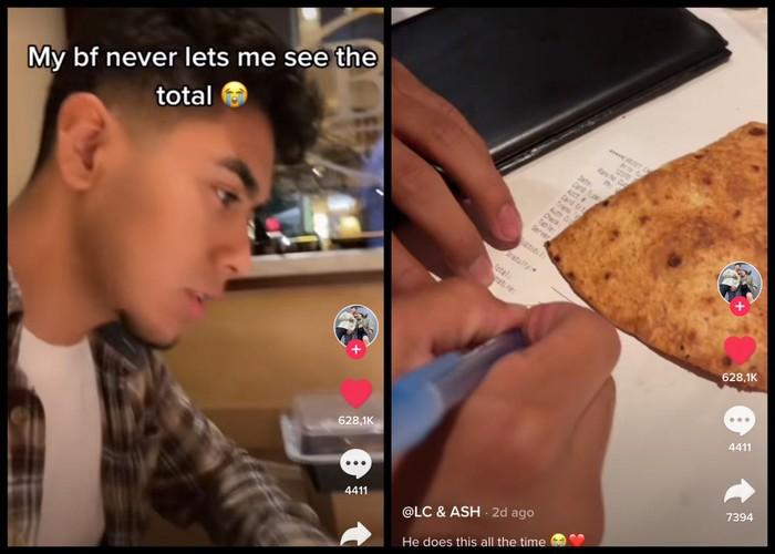 So Sweet! Cowok Ini Tak Izinkan Pacarnya Lihat Bon Tagihan Makan