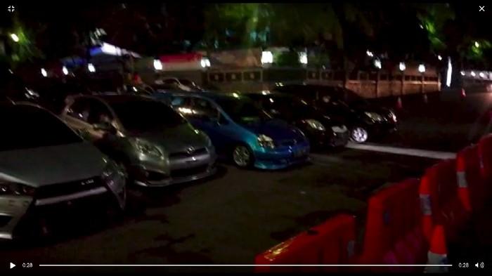 25 mobil dan motor ditahan polisi karena diduga hendak balapan liar di Senayan (Dok.Polda Metro Jaya)