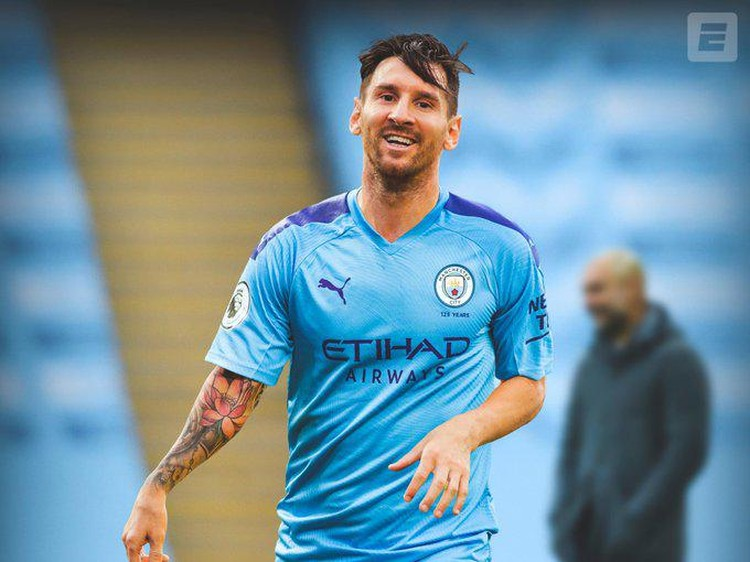 Aneka Photoshop Messi Pindah Klub